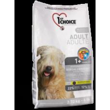 1st Choice гипоаллергенный  для собак с уткой и картофелем