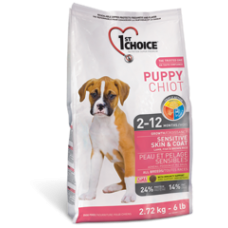 1st Choice Puppy для здоровья кожи и шерсти щенков с ягненком