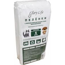 Glory Life c липким фиксирующим слоем одноразовые для животных белые  пеленка  60x40 см(В АССОРТИМЕНТЕ)