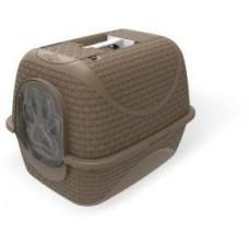 BAMA PET био-туалет для кошек PRIVE 42х50,5х39,6h см, коричневый
