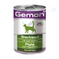 Gemon консервы для стерилизованных кошек паштет  индейка 400г