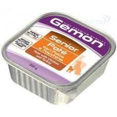 Gemon консервы для пожилых собак паштет курица с индейкой 300г
