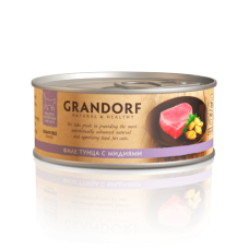 Grandorf Филе тунца в собственном соку для кошек 70 гр (В АССОРТИМЕНТЕ)