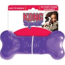 Kong игрушка для собак Сквиз Косточка 15 см