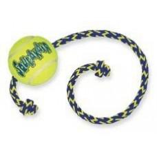"""Kong игрушка для собак Air """"Теннисный мяч"""" с канатом средний"""