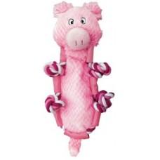 Kong игрушка для собак Barnyard Knots Свинка большая 33 х 13 см