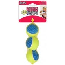 Kong игрушка для собак Ultra Squeak мячик средний 3 шт. в уп.