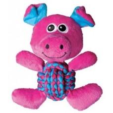Kong игрушка для собак Weave Knots Свинка средняя 22 х 20 см