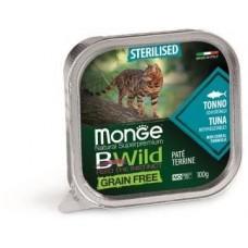 Monge Cat Bwild Grain free консервы из тунца с овощами для кошек
