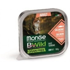 Monge Cat Bwild Grainfree консервы из лосося с овощами для кошек 100г