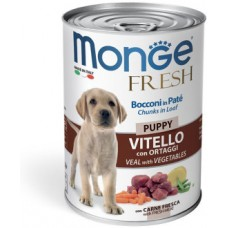 Monge Dog Fresh Chunks in Loaf консервы для щенков мясной рулет