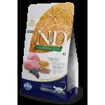 N&D Low Grain Cat для кошек ягненок, черника