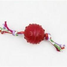 """SuperDesign игрушка для собак """"Мячик с канатиком"""" силик-ый 6 см"""