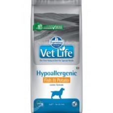 Vet Life для собак Hypoallergenic Рыба с картофелем(В АССОРТИМЕНТЕ)