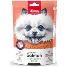 Wanpy Dog лакомые кусочки из нежного лосося в форме рыбок 100 г