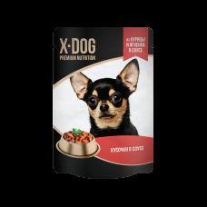 X-Dog из курицы и ягненка в соусе 85 гр,пауч