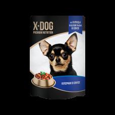 X-Dog из курицы и белой рыбы в соусе 85 гр,пауч