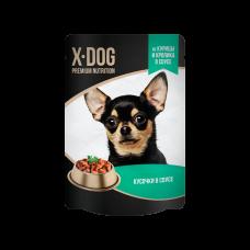 X-Dog из курицы и кролика в соусе 85 гр,пауч
