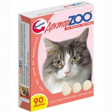 Доктор Zoo Мультивитаминное лакомство с ветчиной для кошек 90 таб