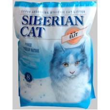 Сибирская кошка наполнитель силикагелевый впитывающий, Элитный с голубыми гранулами