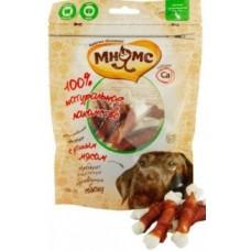 Мнямс лакомство для собак кальцинированные косточки с утиным мяс