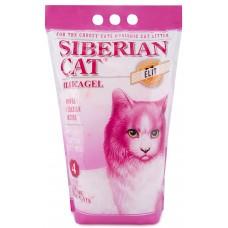 Сибирская кошка наполнитель силикагель впитывающий, Элитный с розовыми гранулами