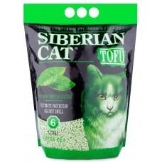 Сибирска Кошка биоразлагаемый комкующийся наполнитель Тофу Зеленый чай